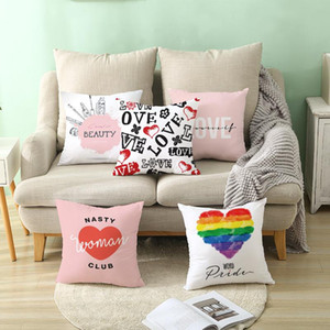 Valentines Day Pillowcase Love Sofa Pillowcase Valentines Day Gifts Cushion Covers Shop Window Hotel Valentines Day Decorations FFF4451
