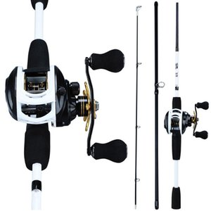 Sougayilang 3 Sections 175CM Lure Fishing Rod and 9+1BB Baitcasting Reel Lure Rod Combo Travel Fishing Sets Pesca