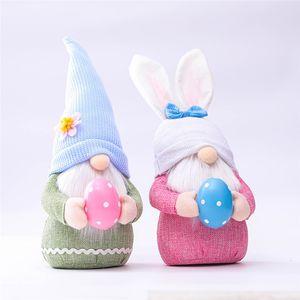 Easter Bunny GNOME Bahar Gnomes Paskalya Yüzsüz Bunny Cüce Bebek Tavşan Hediyeler İsveç Cüce Tatil Ev Dekorasyon