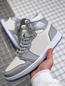 2020 Yeni Yayın 1 1 S Yüksek Makyaj X Bayan Erkek Basketbol Ayakkabıları Gri Beyaz Kristal Alt Spor Sneaker