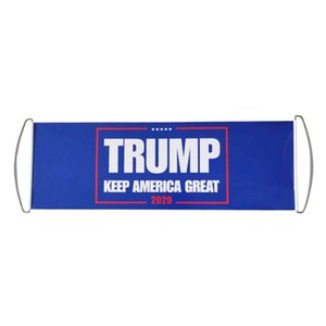 Donald Trump Flag Hand Held Trump Flag Bumper 24X70CM Keep America Great Flag Banner Trump 2020 President Election Flags GWE2496