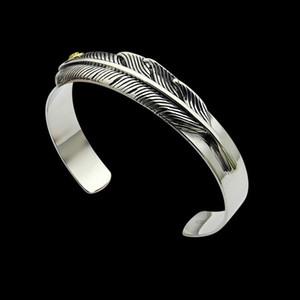 2020 designer Goro Gaucho feather opening Bracelet Asian gold version retro couple bracelet for men and women