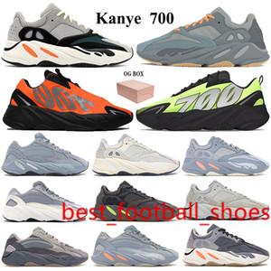 New 700 Running Shoes Kanye Sneakers with Keychain Box OG Solid Grey Teal blue orange Vanta Graffiti Orange Men Women Reflective Trainers