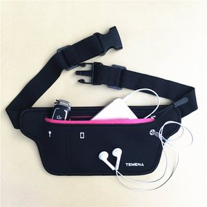 La bolsa riñonera hombres de las mujeres de la cintura bolsa de la cremallera Packs deporte impermeable bolsos ocasionales para Running Senderismo Ciclismo