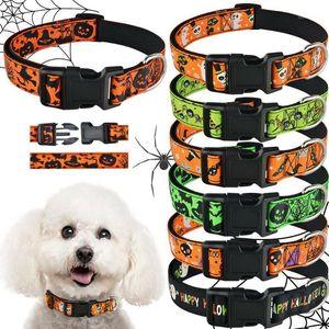 Airuidog Pequeno Colarinho Grande Collar Halloween Ajustável Masculino Feminino Cachorrinho Colar S-XL1