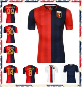 20 21 Genoa CFC Soccer Jerseys Away 2020 2021Maglie Da Calcio # 10 Gumus # 11 Kouame # 17 Romero # 27 Sturaro S. # 99 Chemises de football Pinamonti