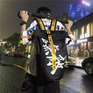 Рюкзак большой вместимости Отдых и путешествия для мужчин корейской версии High School Fashion Brand Студенты колледжа Schoolbag Женские Ins C1111