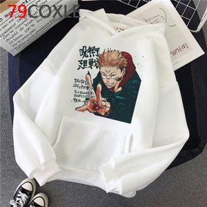 New Anime japonais Sweats à capuche Jujutsu Kaisen Graphic Hoodie Hiver chaud Cartoon Streetwear Harajuku Yuji itadori Sweat Homme