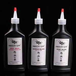 Tattoo Inks 12 Pigment Black Ink Material Syrup Water 360ml Beauty