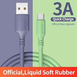 Morbido silicone liquido cavo 3A Micro USB di tipo C per Samsung S10 S20 Huawei redmi Moblie Phone Charger TypeC cavo USB C Cord