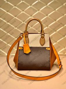 M45388 Fold Tote Мини-ручка сумка Toron Кожаный Crossbody женская дизайнерская сумка старый цветок буквы покупок сумка сумка