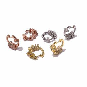 Fahion Steel-SteelenGraved V letra Ball Stud Pendientes 18k Oro Stud Pendientes Rose Gold Stud Pendientes para mujer
