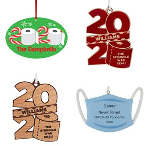 2020 Pendant Survivors of Epidemic Situation Ornant Toilet Paper Christmas Tree Hanging Ornament Wood 78DQ