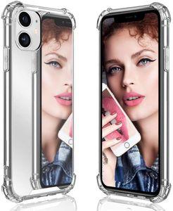 Custodia per il telefono del trucco trasparente di lusso per iPhone 12 12 Mini 11 Pro XS Max XR X Soft Silicone Cover per iPhone 7 8 6 Plus Custodia antiurto