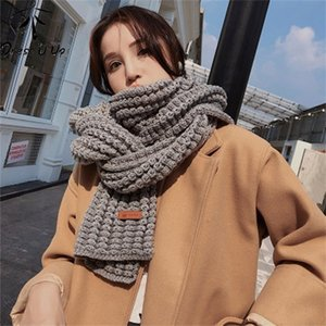 DRESSUUP Brand Women Winter Scarf Warm Solid Long Shawl Fashion Bufandas Mujer Foulard Femme Hijab Y201007