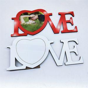Sublimación en blanco Transferencia térmica Amor de corazón forma de madera Personalizado DIY Tabla de impresión de la tabla Decoración de la pared para regalos de San Valentín FY4403