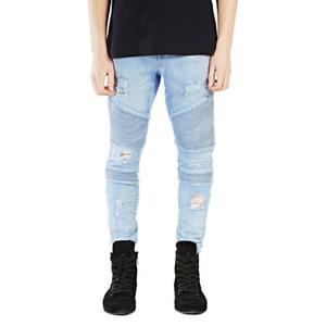 OLOME 2020 New Designer Men Skinny Jeans Pants Men's Classic Jeans Black Hombre Slim Fit Hip Hop Blue Mens Stretch