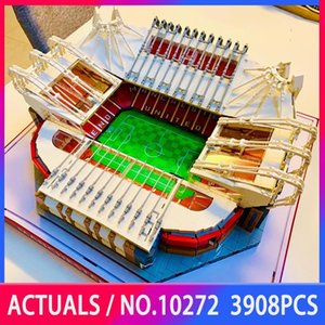 Creator Street View 10272 3908PCS Old Trafford Manchester Model Kits Building Blocks Bricks Educational Toys Kids Christmas Gift Q0123
