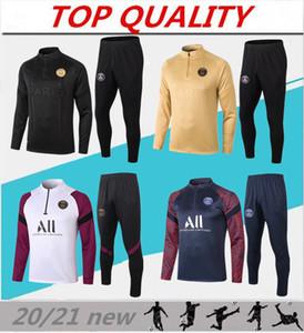 2020 2021 파리 축구 훈련 정장 MBAPPE 긴 소매 셔츠 20/21 타이츠 드 발 디 마리아 VERRATT 축구 조깅 재킷 운동복