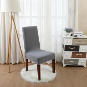 Luxury Solid Stretch Spandex Removable Dining Room Chair Covers Slipcover Living Room Home Party Wedding Decoration Chair Cover
