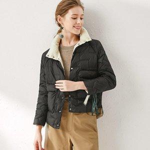 Boutique de vêtements pour femmes Hiver 2021 en Europe et le collier Couverture Frivolous Court Jacket Fabricant Grossiste