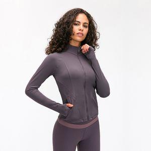 Panneau de yoga de ponçage à double face Elastic Slim Zipper Film de filetage Fil de sport pour femmes automne hiver