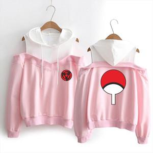 WEJNXIN Anime NARUTO Design Women Hoodies Fake Two Pieces Ninja Streetwear Girl Sexy Top Hoody Clothes Uchiha Family Sweatshirt