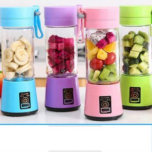 Portable Fruit Juicer 380ml 6 Blades Portable Electric Home USB Rechargeable Smoothie Maker Blenders Machine Sports Bottle Juicing Cup