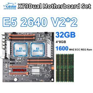 X79 듀얼 2 × 제온 E5 2,640 V2 프로세서 CPU 8기가바이트 × 4 = 14900 32기가바이트 PC3 인 1600MHz DDR3 ECC REG 메모리 세트 마더