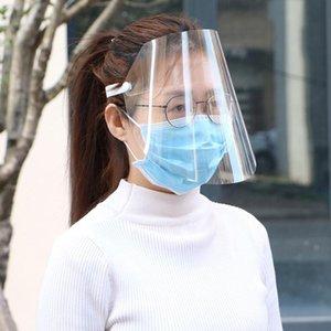 Proteger ajustable a prueba de polvo anti Droplet cara cubierta lavable de la mascarilla a prueba de viento Escudo de la gotita completa visera 1PC Pantalla Protectora Adjus Ggcj