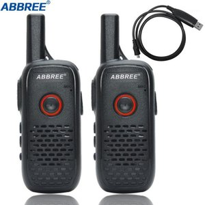 2PCS ABBREE AR-Q2 Professional Handy mini Walkie Talkie Mini VOX USB Charge UHF Two Way Radio Comunicador Transceiver Woki Toki1