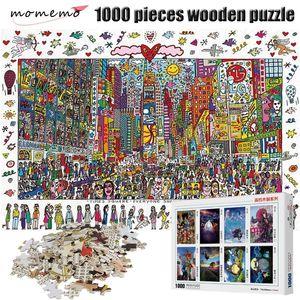 Momemo Times Square Puzzle 1000 штук мультфильм живопись для взрослых головоломки деревянные головоломки 1000 штук головоломки детей рождественские игрушки Y200421