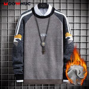 Nueva moda suéter para los hombres informal suéter masculino remiendo de alta calidad 2020 otoño del resorte de la manga larga delgada Hombre MOOWNUC Juvenil