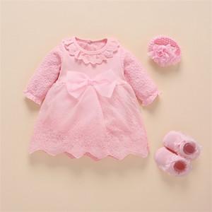 2020 Foohinck Vestido Vestido Vestido New Bay Baby Girl Ropa Baby White Bautismo Vestidos 3 6 meses para la princesa de la niña Q1223