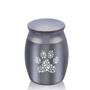 30x40mm Pet Paws Imprimer en alliage d'aluminium Mini Urnes Bijoux Crémation Ashes Memorial Pet / Human Ashes funéraire Urne Keepsake