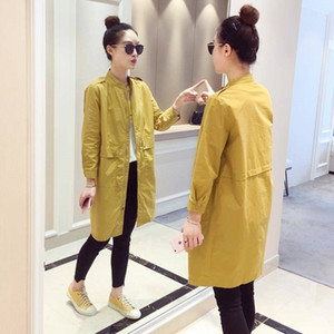 Spring Casual Windbreakers Loose Trench Plus Size Cotton Overcoat Women Coats And Coat 201030