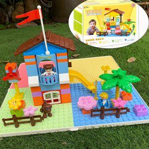 DIY Technic Creator House Building Blocks Architecture Home With Garden Birthday Christmas Birthday Gift For Children