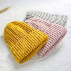 Womens Autumn Women Wool Knit Hat Cuff Beanie Watch Cap Girls Spring Skull Hats for Female