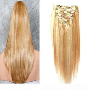 Цвет фортепиано 27 613 100G Virgin Brazilian зажим для волос в расширениях 7шт. Клип в наращивание волос человека прямо