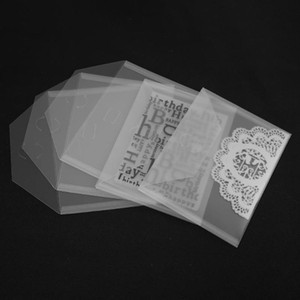 10Pcs PP Transparent File Pack Stamp Collection Storage Bag Small Scrapbooking Stencil Cutting Template Pouch Holder