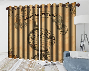 3d Curtain Bedroom Wholesale 3d Blackout Curtain European Globe Living Room Bedroom Kitchen Window Blackout Curtains