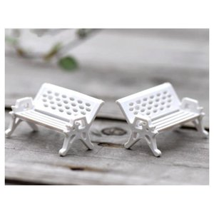 crafts 30pcs modern park benches miniature fairy garden miniatures accessories toys for doll house courtyard decoration