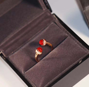 Luxurious quality punk opend ring with malachite and red agate for women wedding jewelry gift free shipping PS8805