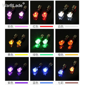 10Pair Charm LED Stud Earring Light Up Plum Flower Star Round Glowing Crystal Stainless Ear Cute Earrings Jewelry For Women Gift