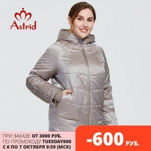 Astrid New Herbst Winter Damenmantel Frauen Winddicht Warme Parka Plaid Fashion Jacket Hood Große Größen Weibliche Kleidung 9385 201007