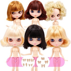 Blyth Doll NO.2 Обнаженная 1/6 Объединенное тело 30 см BJD игрушки жирные волосы DIY Мода Куклы Девушка подарок LJ201031