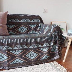 Zweiseitige Geometrie Wurf Decke Sofa Slipcover Kind Infant Recliner Divan Plaid Damen Tücher Neugeborenen Swaddle1