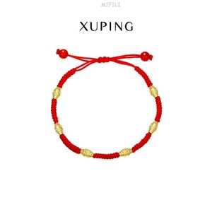 jewelry 24K gold plated retro creative woven adjustable red string bracelet AB81701