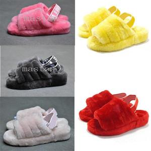 2020 Furry Slippers Australia infants fluff yeah slide Women casual shoes womens SneakersuggswggsSandals Fur Slides Sli f0zJ#