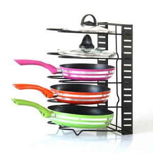 Pan Rack Holder Regolabile Cucina Scaffale per stoccaggio Rack di stoccaggio Tagliere Pot Coperchi 5 strati Racks Organizzatore Utensili da cucina Utensili YL1400